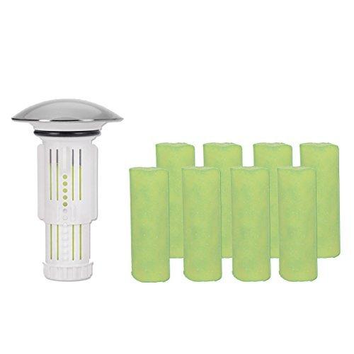 Abflussfee 00149 Verschlussstopfen (weiß, inkl. 9 Duftsteine mit Apfel-Zitrone-Geruch)