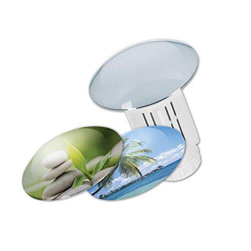 Abfluss-Fee Verschlussstopfen und Duftstein (Verschlussstopfen weiß + 5 Duftsteine)