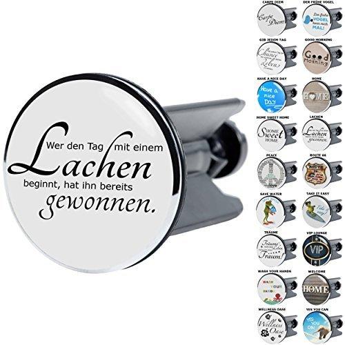 Waschbeckenstöpsel mit Sprüchen | große Auswahl | passend für alle handelsüblichen Waschbecken (Lachen)