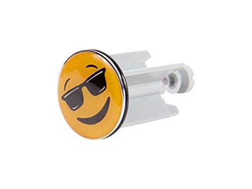 Alsino Emoji Waschbeckenstöpsel Stopfen Bad Stöpsel Waschbecken Abflussstöpsel Pluggy , Variante wählen:10/5307 Cool