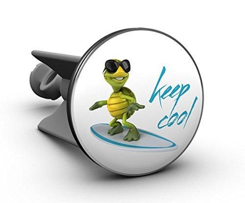 Plopp Waschbeckenstöpsel Surfer keep cool, Stöpsel, Excenter Stopfen, für Waschbecken, Waschtisch, Abfluss