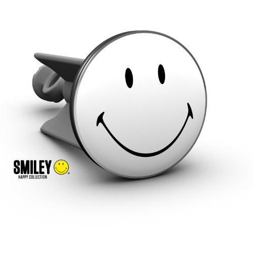 Plopp Waschbeckenstöpsel Smiley Black White, Stöpsel, Excenter Stopfen, für Waschbecken, Waschtisch, Abfluss