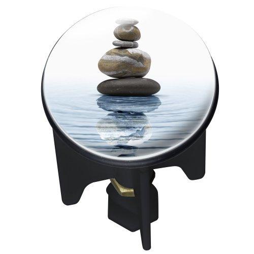 WENKO 20867100 Waschbeckenstöpsel Pluggy® Meditation  - Abfluss-Stopfen, für alle handelsüblichen Abflüsse, Kunststoff, 3.9 x 6.5 x 3.9 cm, Mehrfarbig