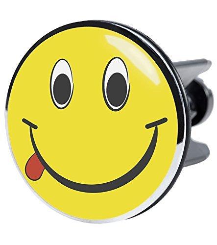 XXL Waschbeckenstöpsel Smiley, deckt den kompletten Abflussbereich ab, Hochglanz Design ✶✶✶✶✶